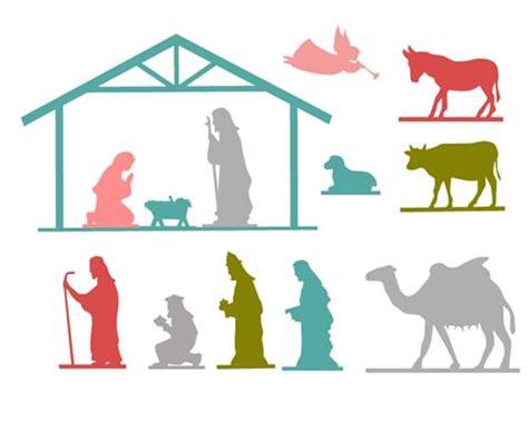 nativity scene silhouette template search results