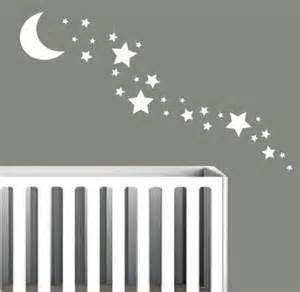 Solid moon 35 star wall stickers nursery stars art any colour