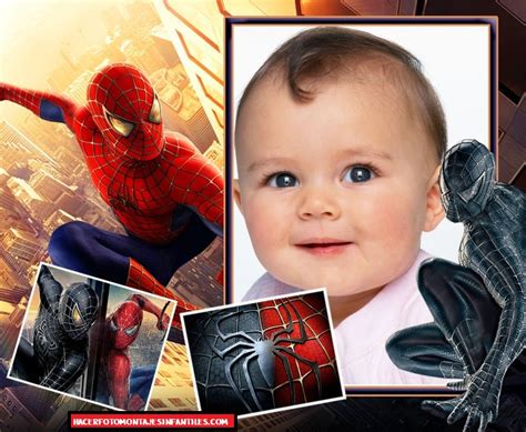 montajes y fotomontajes infantiles para ni os y bebes fotomontaje para ni 241 os de spiderman fotomontajes infantiles