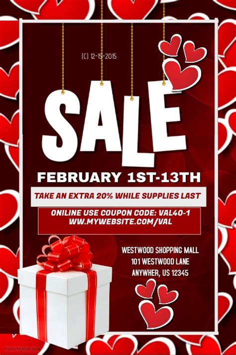 sle event flyer template valentines sales event template postermywall