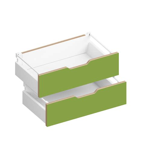 Closing Drawers by Sylvi 6 Half Soft Drawers Green By Morfus