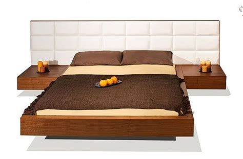 Nightstand With L Attached by Bed W Leather Upholstered Headboard Attached Nightstands