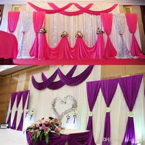 how to drape a wall with fabric wedding background fabric satin curtain drape stage