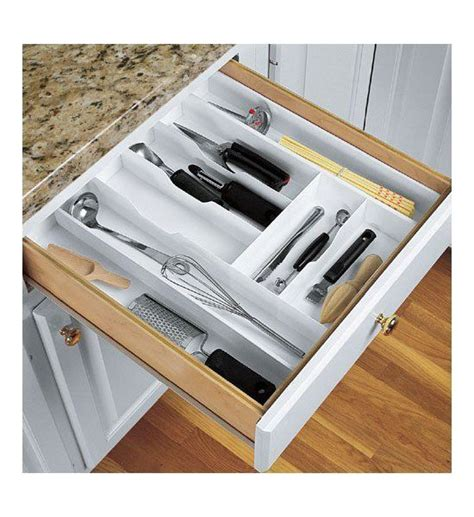 expand a drawer large cutlery organizer in kitchen drawer