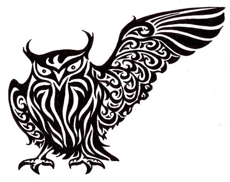 gambar tribal pattern owl tribal owl by xanadra on deviantart