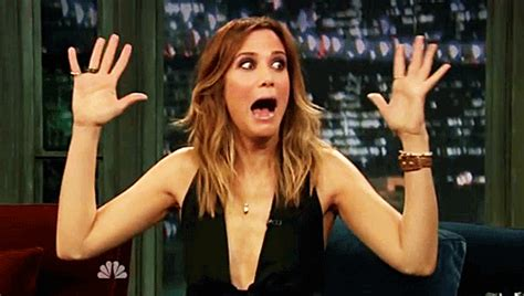 excited gif excited kristen wiig gif find on giphy