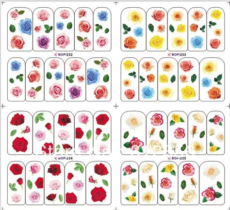 printable nail art stickers 7 best images of decal large free printable templates