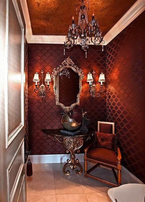 Designer Vanities For Bathrooms Twenty Beautiful Wallpaper Ideas For Your Powder Room