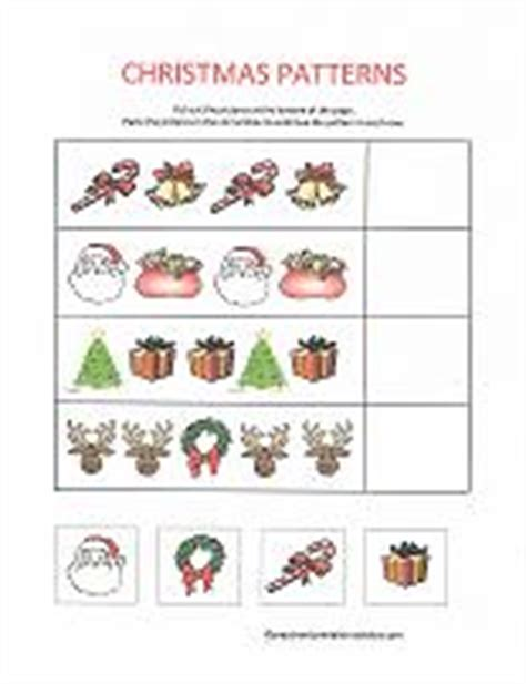 christmas pattern worksheets for kindergarten christmas printables