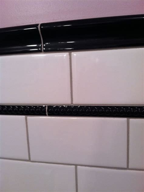 bathroom tile chair rail