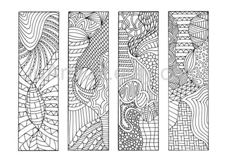 free printable bookmarks you can color coloring bookmarks to print 12 zentangle inspired printable