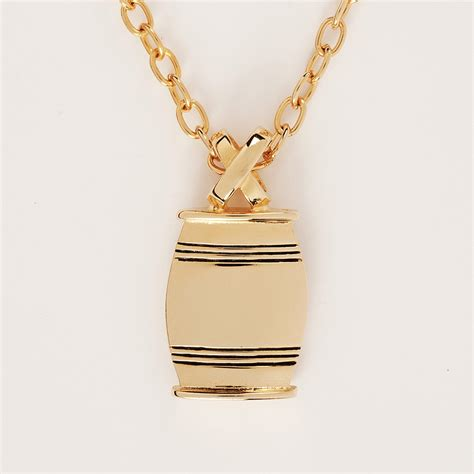 gold and silver ls vertical quot x quot slide bourbon barrel necklace in gold or