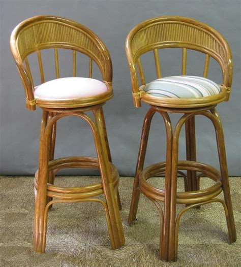 Rattan Swivel Counter Stools by Rattan Swivel Counter Stool All About Wicker