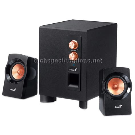Speaker Komputer Genius Genius Sw 2 1 360 Pc Speakers Tech Specs