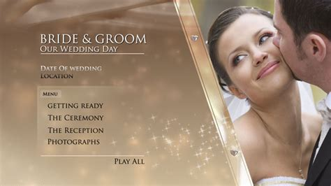 digital video team gold wedding dvd menu