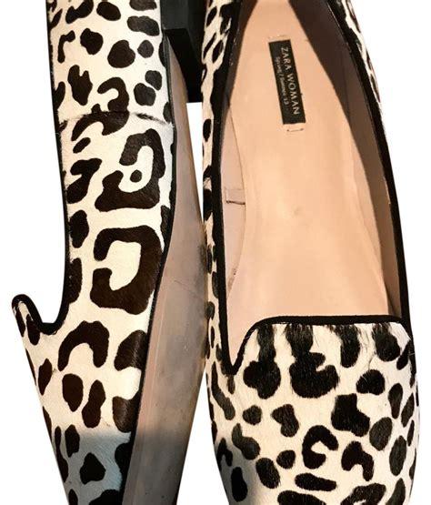 20343 Comfy Leopard White zara black and white leopard print flats on sale 41 flats on sale