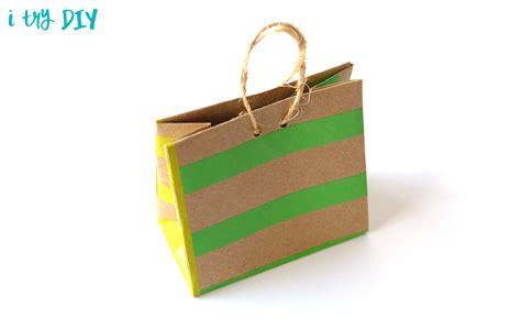 Bag Origami - mini origami shopping bag i try diy