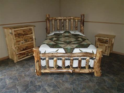bedroom dresser set rustic aspen log bedroom set king complete bed 4 drawer dresser nightstand ebay