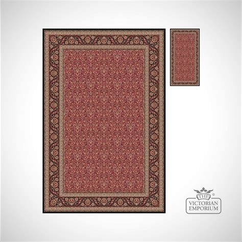 Victorian Rug Style Na1286 In Brown Red Beige Brown Style Rug