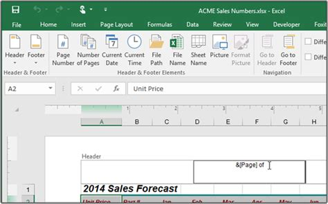format date header excel how to insert month in excel header insert auto date