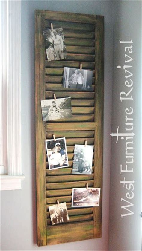 distressed home decor west furniture revival shutter repurposed dry brushed
