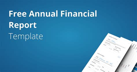 annual financial report template fundivo