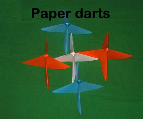 How To Make Paper Darts - paper throwing darts