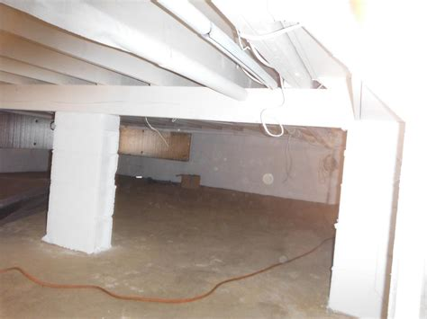 Insulated Basement Wall Panels Installed Crawl Space Repair Crawlspace Insulation In Bound Brook