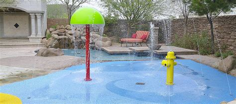 splash pads for the home and backyard deck