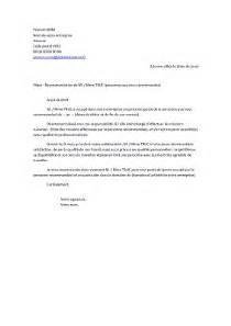 lettre de recommandation professionnelle exemples de cv