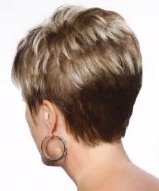 front and back views of womens hair cuts short hairstyles back view