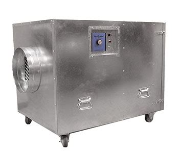 dual purpose industrial air scrubber for dust chemical odor