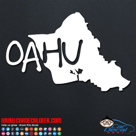 Auto Sticker Hawaii by Oahu Hawaii Island Car Window Vinyl Decal Sticker