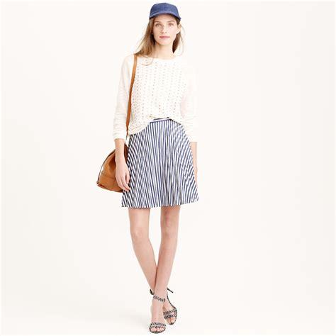 Mini Dress Import 2 j crew stripe mini skirt in blue lyst