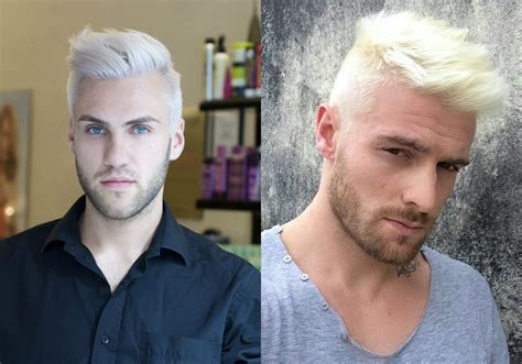 mens hairstyles dyed blonde platinum blonde men s hairstyles to be the trend