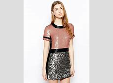 Lyst - French Connection Shelly Sequins Dress in Pink French Connection
