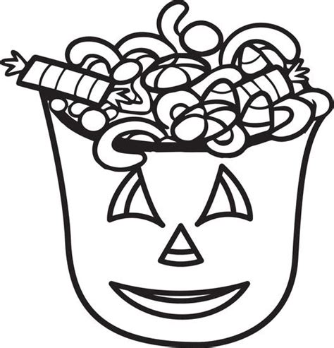 free printable halloween candy coloring page for kids