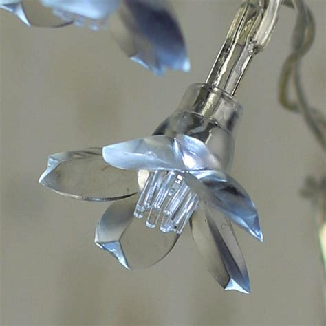 battery operated clear lights battery operated clear flower bulb string lights