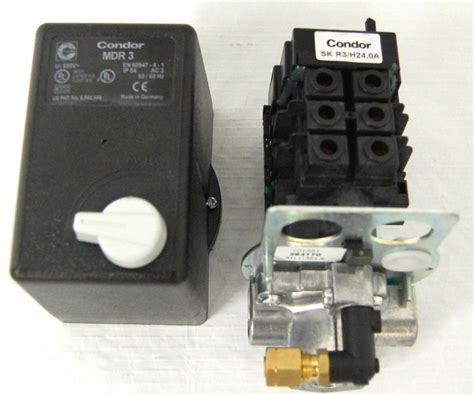 pressure switch magnetic starter 3 phase condor sk r3 h24 air compressor parts pacific air