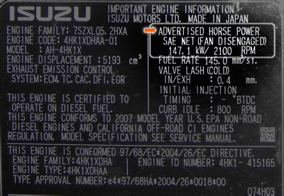 Isuzu Diesel Engine Specifications Faqs Isuzu Diesel Engines