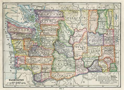 state  washington maps  travel information