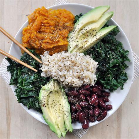 vegetarian bean and rice recipe beans and rice macro plate vegan gluten free the