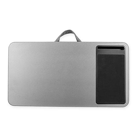 bed bath and beyond computer lap buy deluxe laptop lap desk in silver from bed bath beyond