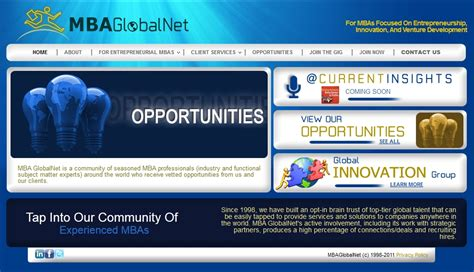 Mba Site by Mba Globalnet Enewsletter Mbas Focused On Innovation