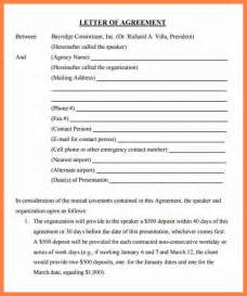 Agreement Letter Between 2 5 Letter Of Agreement Template Between Two Insurance Letter