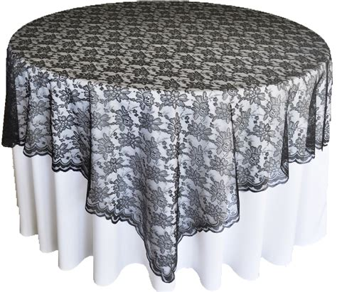 black lace table overlay toppers wedding 72 quot