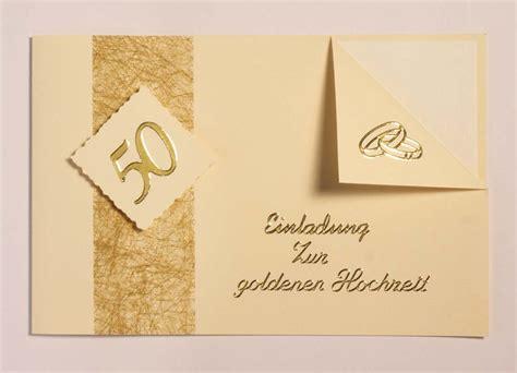Einladungskarten Zur Goldenen Hochzeit by Einladungskarten Zur Goldenen Hochzeit Texte Karten Und