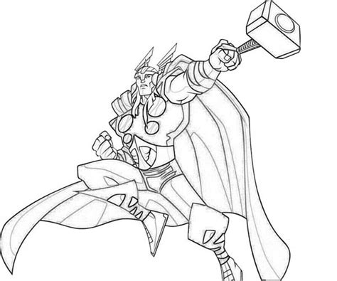 thor cartoon coloring pages
