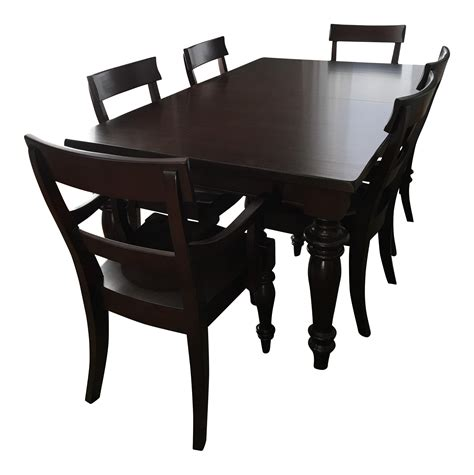 Montego Dining Table Pottery Barn Montego Dining Set Chairish