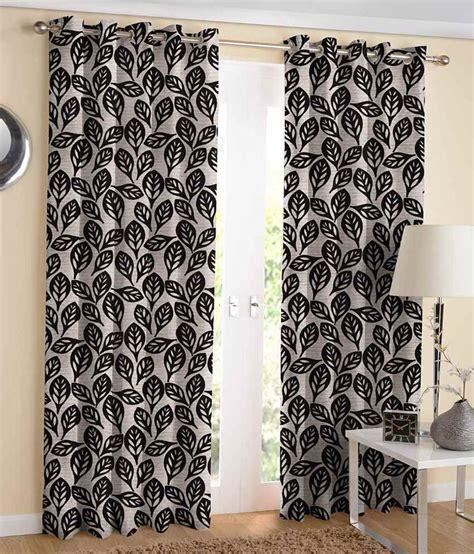 jacquard eyelet curtains suam jacquard black eyelet door curtain pack of 2 buy